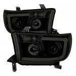Toyota Tundra 2007-2013 Black Smoked LED DRL Projector Headlights