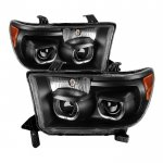 Toyota Sequoia 2008-2013 Black Halo Projector Headlights