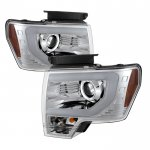 2013 Ford F150 LED DRL HID Projector Headlights