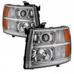 2013 Chevy Silverado 2500HD LED DRL Projector Headlights