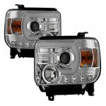 GMC Sierra 2014-2015 LED DRL Projector Headlights
