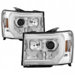 GMC Sierra 2007-2013 LED DRL Projector Headlights