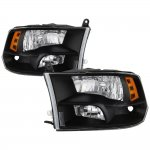 2009 Dodge Ram Black Quad Headlights