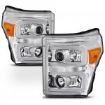 2011 Ford F450 Super Duty LED DRL Projector Headlights