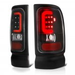 1997 Dodge Ram Black LED Tail Lights Red Tube