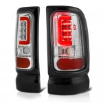 1997 Dodge Ram Chrome LED Tail Lights Red Tube