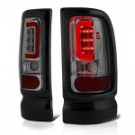 2001 Dodge Ram Smoked LED Tail Lights Red Tube