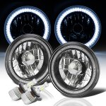 1976 Jeep CJ7 SMD Halo Black Chrome LED Headlights Kit