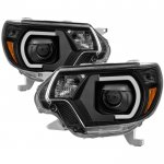 Toyota Tacoma 2012-2015 Black LED DRL Projector Headlights