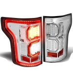 Ford F150 2015-2017 Clear LED Tail Lights Outline