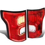 Ford F150 2015-2017 Red LED Tail Lights Outline