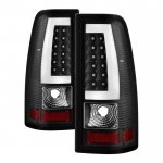 2003 GMC Sierra Black Tube LED Tail Lights