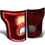 2015 Ford F150 Tinted LED Tail Lights Outline