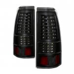 Chevy Silverado 2500HD 2003-2006 Black Full LED Tail Lights