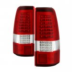 Chevy Silverado 2500HD 2003-2006 Red Clear Custom Full LED Tail Lights