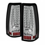 2003 Chevy Silverado Clear Custom LED Tail Lights