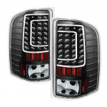 2013 Chevy Silverado 2500HD Black C-Custom LED Tail Lights