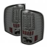 2007 Chevy Silverado 2500HD Smoked C-Custom LED Tail Lights