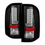 2013 Chevy Silverado 2500HD Black L-Custom LED Tail Lights
