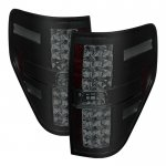 2010 Ford F150 Black Smoked LED Tail Lights
