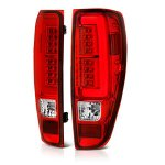 2010 GMC Canyon Red and Clear LED Tail Lights Tube