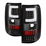 2004 Ford F150 Black Tube LED Tail Lights