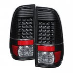 2016 Ford F350 Super Duty Black LED Tail Lights