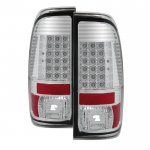 2013 Ford F450 Super Duty Chrome LED Tail Lights