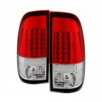 2013 Ford F450 Super Duty LED Tail Lights Red Clear