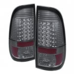 2016 Ford F350 Super Duty Smoked LED Tail Lights