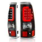 Chevy Silverado 2003-2006 Black LED Tail Lights Red Tube