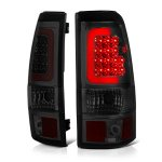 2004 Chevy Silverado 3500 Smoked LED Tail Lights Red Tube