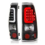 2001 Chevy Silverado 1500HD Black LED Tail Lights Tube
