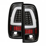 2002 Ford F250 Super Duty Black Tube LED Tail Lights