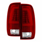 2001 Ford F250 Super Duty Tube LED Tail Lights