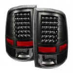 2014 Dodge Ram 2500 Black LED Tail Lights