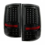 Dodge Ram 2009-2014 Black C-Custom Full LED Tail Lights