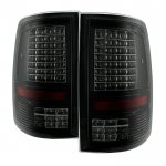 2010 Dodge Ram 3500 Black Smoked C-Custom Full LED Tail Lights