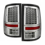 Dodge Ram 2009-2014 Chrome C-Custom Full LED Tail Lights