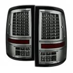 Dodge Ram 2009-2014 Smoked C-Custom Full LED Tail Lights