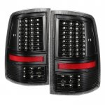 2010 Dodge Ram 3500 Black Full LED Tail Lights