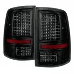 Dodge Ram 2500 2010-2018 Black Smoked Full LED Tail Lights