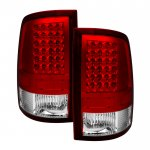2009 Dodge Ram Red Clear LED Tail Lights