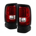 1997 Dodge Ram Red Clear LED Tail Lights
