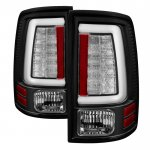Dodge Ram 3500 2010-2018 Black Tube LED Tail Lights