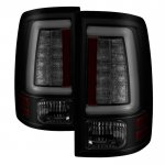 2010 Dodge Ram 3500 Black Smoked Tube LED Tail Lights