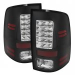 Dodge Ram 2500 2013-2018 Black LED Tail Lights P-Series