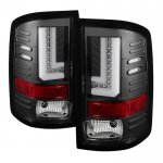 GMC Sierra 3500HD 2015-2018 Black L-Tube LED Tail Lights