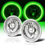 2014 Jeep Wrangler JK Headlights Conversion Green SMD LED Halo