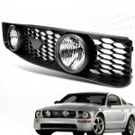 2007 Ford Mustang Black Sport Grille and Clear Fog lights